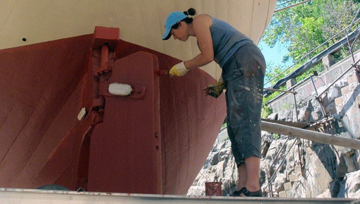 Åsa Romson (MP) får hjälp med mer miljövänlig, närproducerad bottenfärg