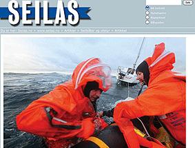 Test av redningsflåter - Seilas