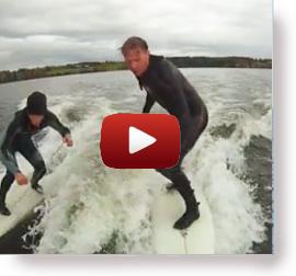Wakesurf efter båden med Autopilot - dette er ikke en anbefaling :)